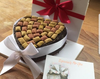 Cat Birthday cake- cat gift- birthday cake for cats- cat cake - cat treats - Cat cake birthday gift