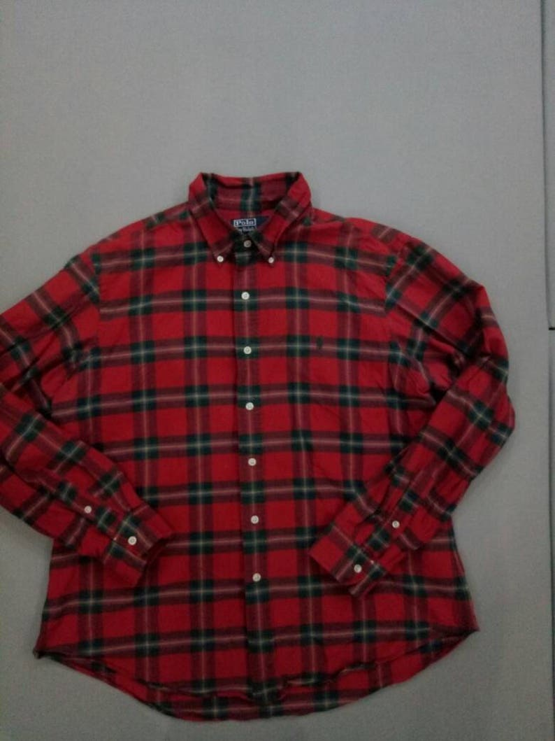 Vintage Ralph Lauren plaid shirt red
