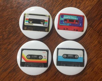 Cassettes, Cassette Tapes, Fridge Magnet, Refrigerator Magnet, Set of 4