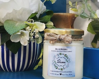 Blueberry Scented Candle made with blended natural wax and fine fragrance oils