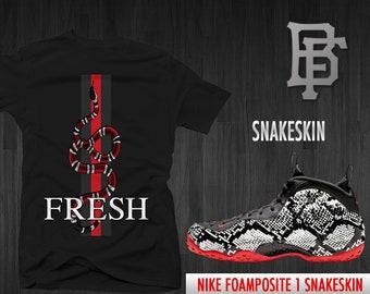 hot sale online 757e3 15b13 Snakeskin Tee by Bobby Fresh Sneaker Matching Tee for the Snakeskin  Foamposite 1