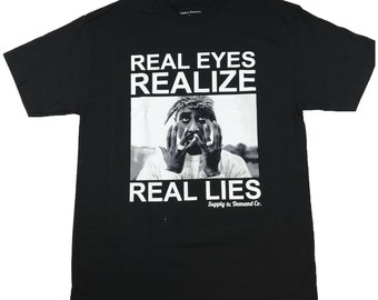 2a6a96ee7608 Real Eyes 2pac Tee By Supply and Demand Tupac Shakur Rap Tee