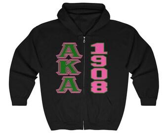e40b747607ee Alpha Kappa Alpha Hoodie    Alpha Kappa Alpha    1908    AKA    AKA Gift     Pink and Green    AKA Sorority