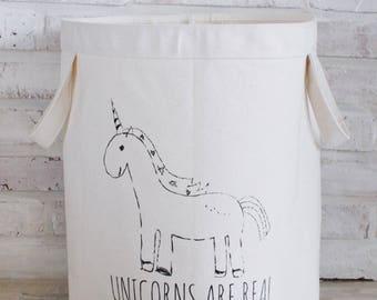Unicorn Canvas Storage Bin