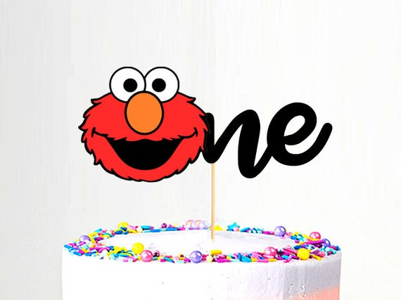 One Or Two Elmo Cake Topper