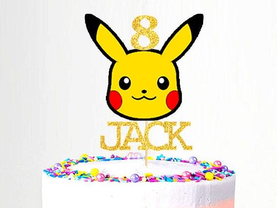Brilliant Pokemon Pikachu Cake Topper Etsy Funny Birthday Cards Online Eattedamsfinfo