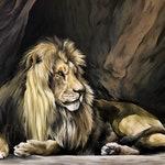 "Lion, PRINT - ""Winston"" (2 sizes available!)"