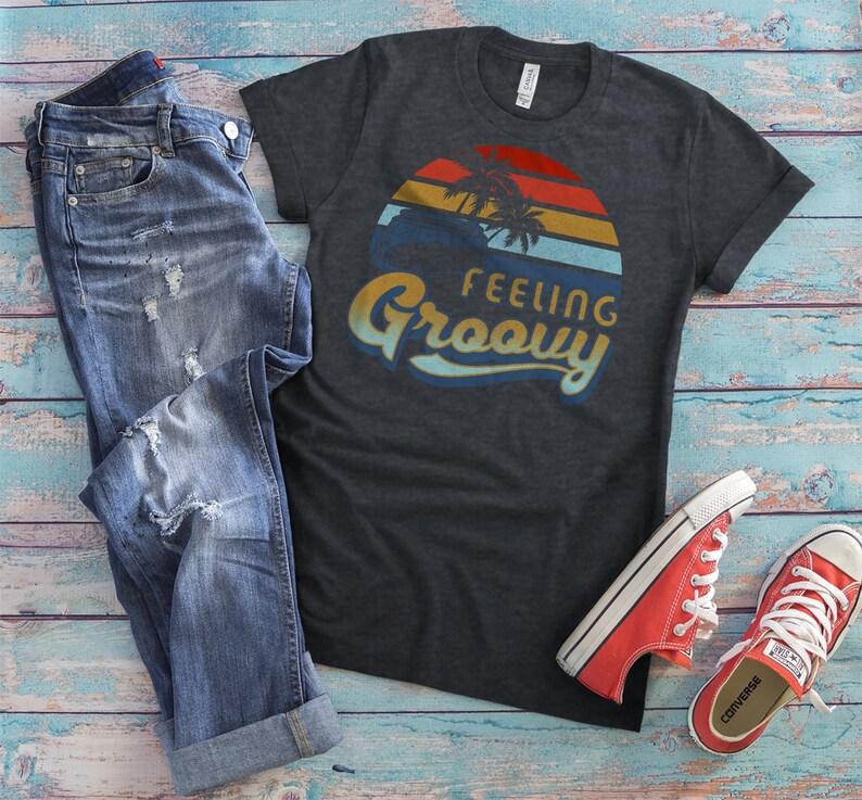 310c9ad4 Feeling Groovy Hippie Shirt Mens Vintage Tshirt Vintage Tee | Etsy