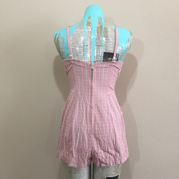 Early 50's Rose Marie Reid Pink Gingham Swimsuit - image 2