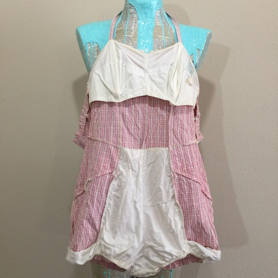 Early 50's Rose Marie Reid Pink Gingham Swimsuit - image 8