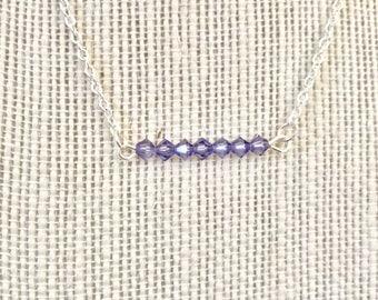 Swarovski bar necklace