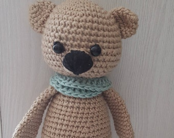 Crochet Teddy Bear, Plush toy, birthday gift, Handmade toy
