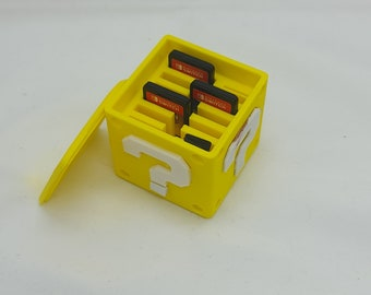 Question box  from super Mario box for Nintendo cards and sd  3d printed