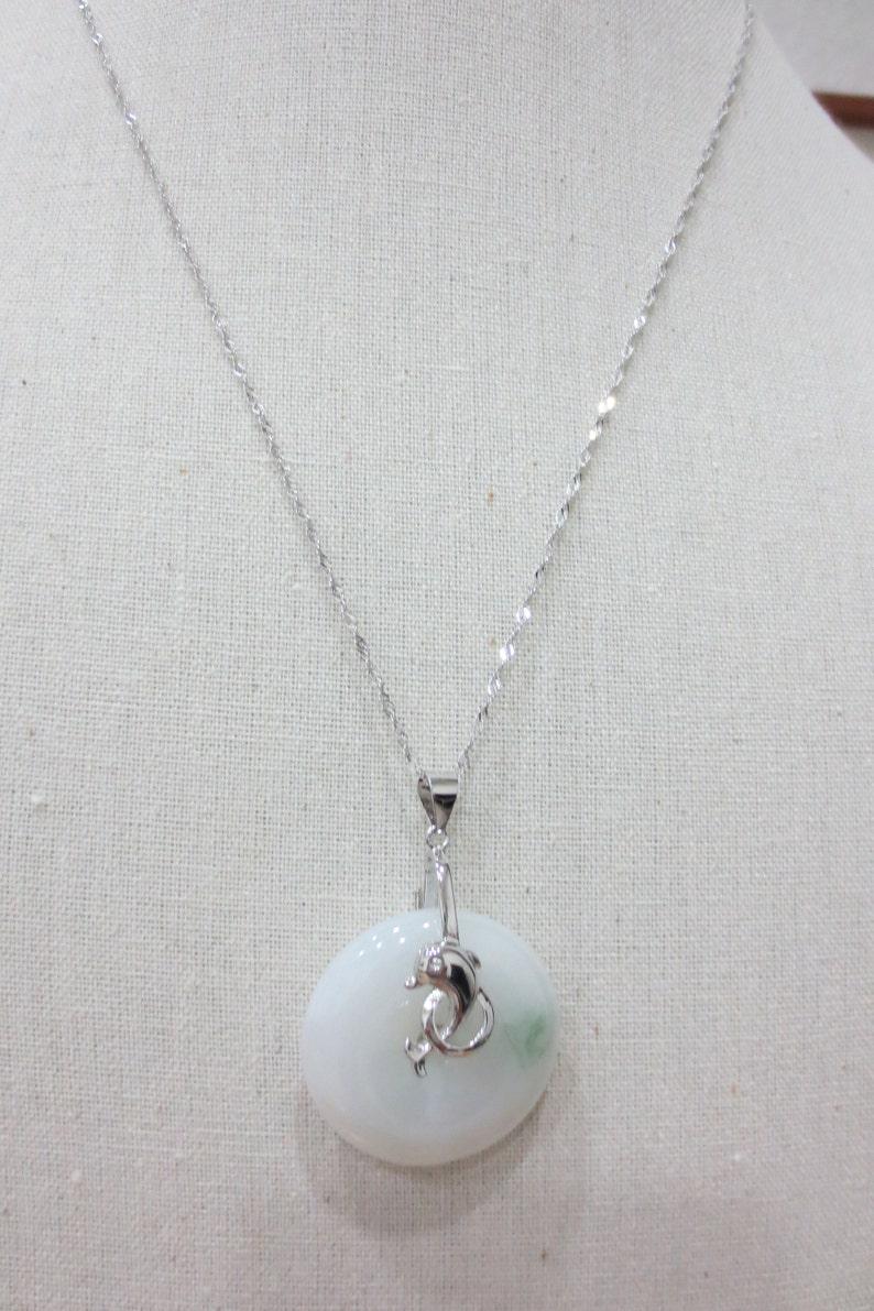 Jade Emerald Necklace Burma Jade Hoop Sterling Silver  Jade necklace Designer Handmade Jade Pendant Necklace