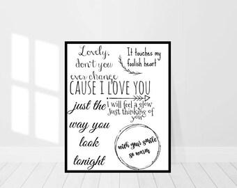 Cute beatles lyrics