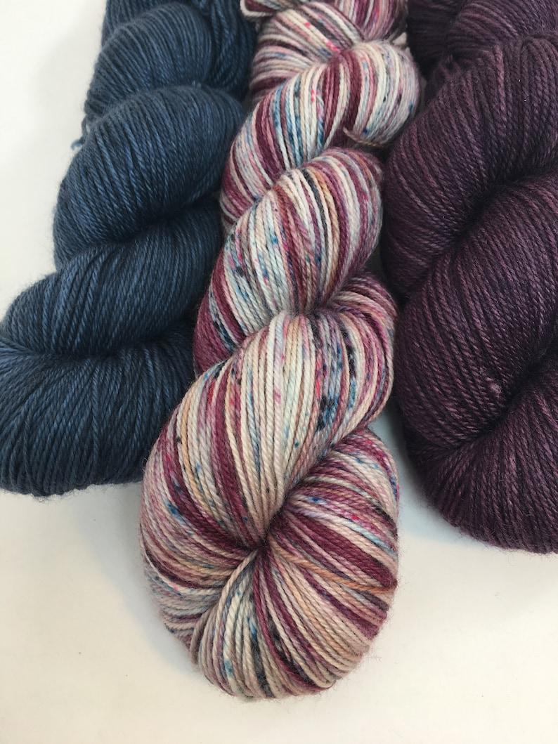 8020 MerinoNylon fingering weight New Denim Hand Dyed Sock yarn