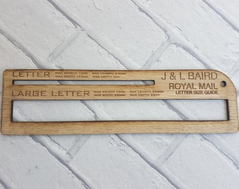 Usps thickness gauge postal gauge letter size gauge post personalised royal mail post template letter size guide for office business stationery ideas wedding invites oak wood handy solution in shop spiritdancerdesigns Gallery