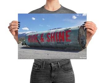 Ride and Shine Graffiti Silo Poster/Print/Wall Art/Colorado/Photography