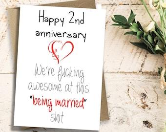 2nd Anniversary Card
