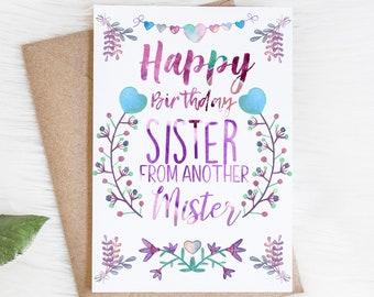 Mister sister card | Etsy