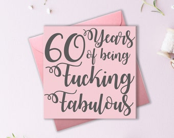 Funny 60th Card