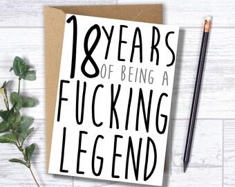 Funny 18th Birthday Card