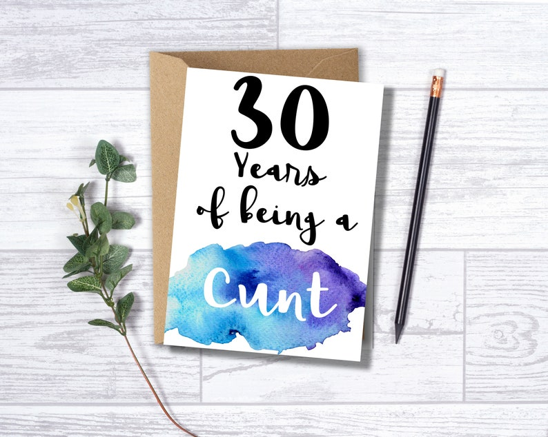 Funny 30th Birthday Card For Him 30 Years Of Being A