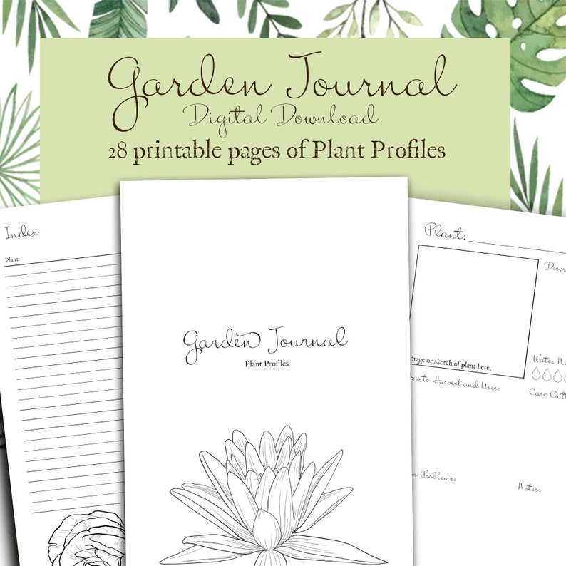 photograph relating to Printable Garden Journal known as Plant Profiles for Gardeners, Printable Back garden Magazine, A4/A5 Electronic Down load