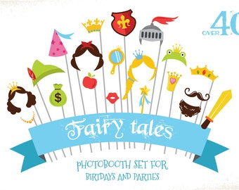 Fairy Tale & Princess party props. DIY themed birthday photo props . Instant Download
