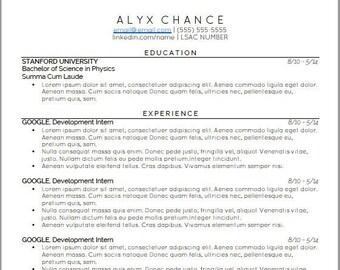 Law School Resume Etsy