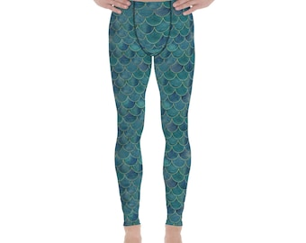 9f5f69feccedb8 Merman mens leggings