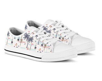 991f83ca901 Tropical palm trees sail boat sneakers