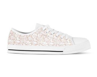 8cac54ee212a White lace bridal sneakers