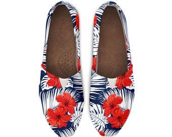 fdf1ea0be7 Hawaiian print canvas shoes