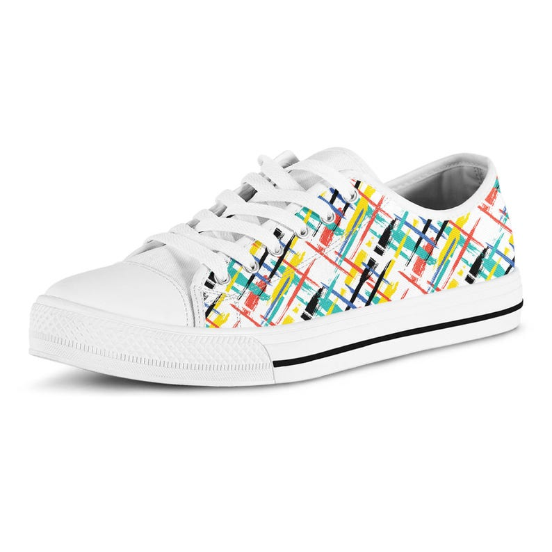 48c1184dfea85 Streetwear Sneakers Vegan Shoes Graffiti Paint Tennis Shoes Canvas Shoes  Birthday Gift Unisex Sneakers