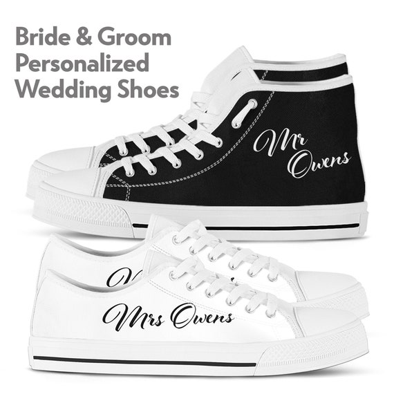 Matching personalized wedding sneakers