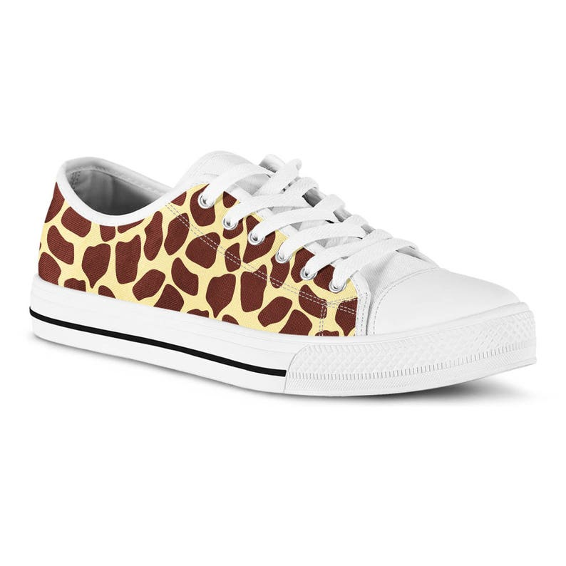 3da3521163f0e Custom Sneakers Tennis Shoes Funky Animal Print Giraffe Print Canvas Shoes  Casual Shoes Vegan Shoes Birthday Gift for Boyfriend Girlfriend