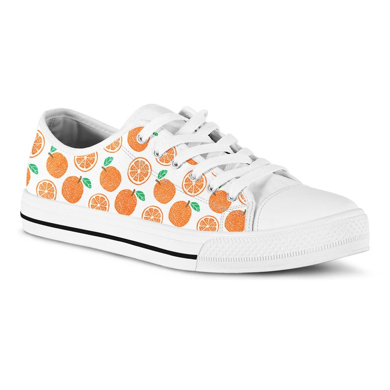 42a1837233dfe Sneakers Orange Shoes Fruit Print Sneakers Quirky Shoes Streetwear Fashion  Kitsch Cute Novelty Shoes Vegan Shoes Gift Ideas