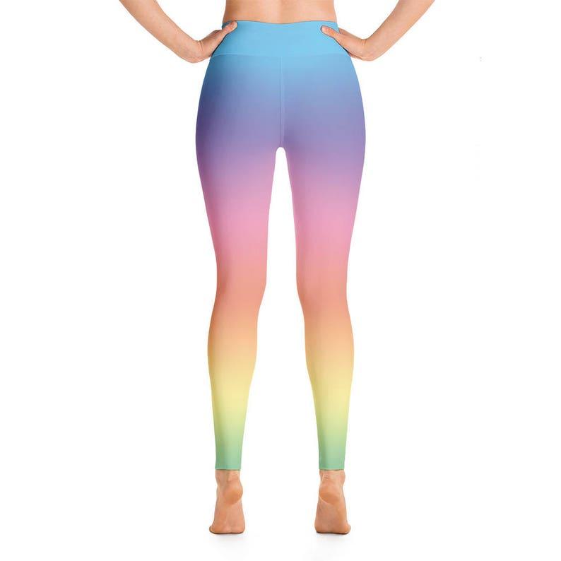 debaf5d793db Pastel rainbow leggings rainbow ombre yoga pants | Etsy