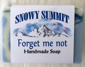 Handmade Forget Me Not Soap