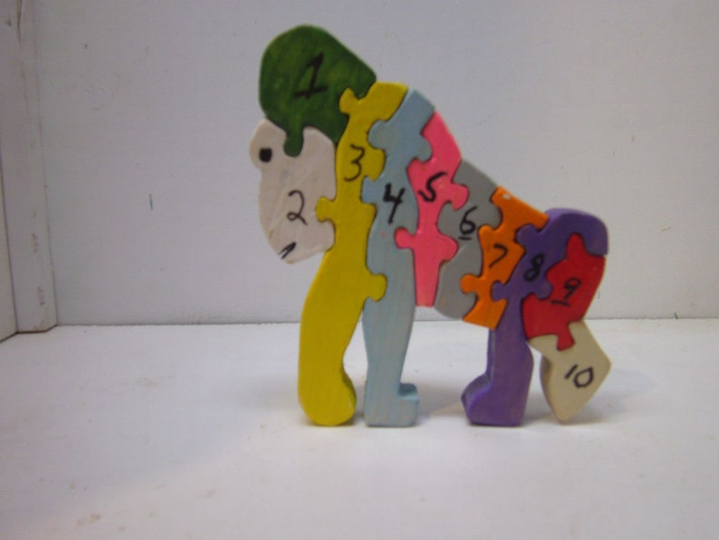 Educational Toys Colorful Little Gorilla Puzzle