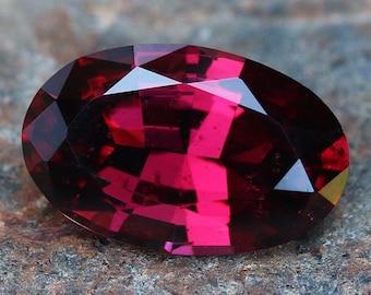 4.6ct Natural Rhodolite | Natural Garnet | Oval Cut | Purple-Red Gemstone | Loose Garnet | Mozambique