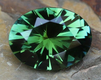 6.48ct Natural Green Tourmaline | Oval Cut | Faceted | Green Stone | Loose Tourmaline | Green Tourmaline