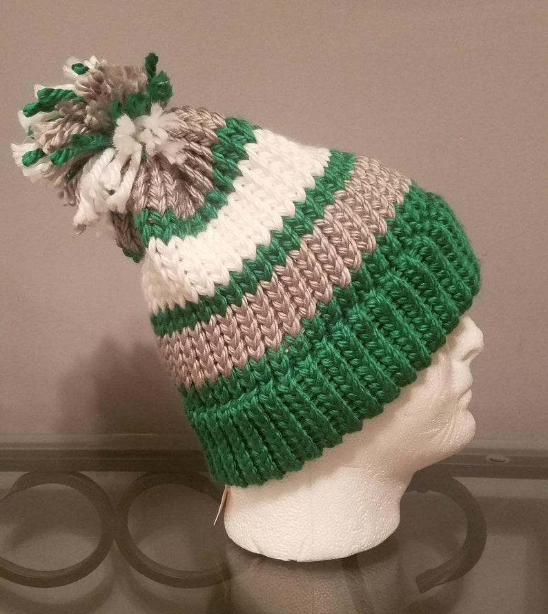 Handmade throwback Philadelphia Eagles knit winter hat  22c3bcb9aaca