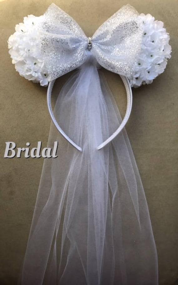 Bridal Ears Wedding Minnie Mouse Ears Marriage Headband   Etsy