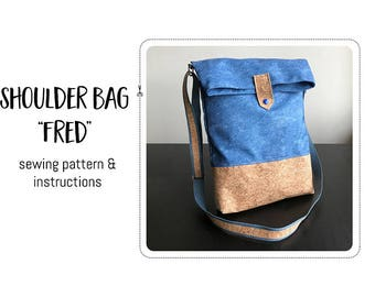 "Shoulder bag ""Fred"" Sewing pattern & detailed instructions"