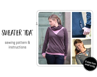 """Sweater """"Ida"""" sewing pattern & detailed instructions"""