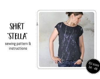 """Shirt """"Stella"""" Sewing pattern and detailed instructions"""