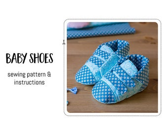 Baby shoes sewing pattern and detailed instructions