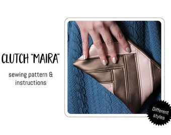 """Clutch """"Maira"""" Sewing Pattern & detailed instructions"""